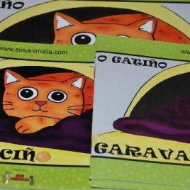 """Libro """"O gatiño Garavanciño"""" grande"""